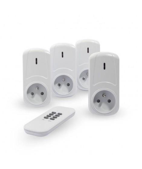 CHACON Kit de 4 prises télécommandées on/off + télécommande