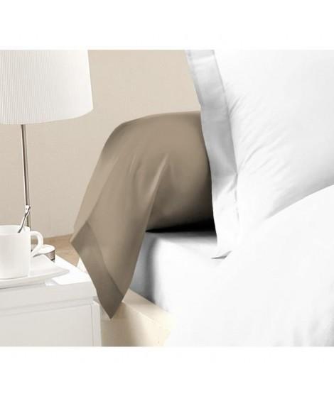 LOVELY HOME Lot de 2 Taies de Traversin 100% coton 85x185 cm beige
