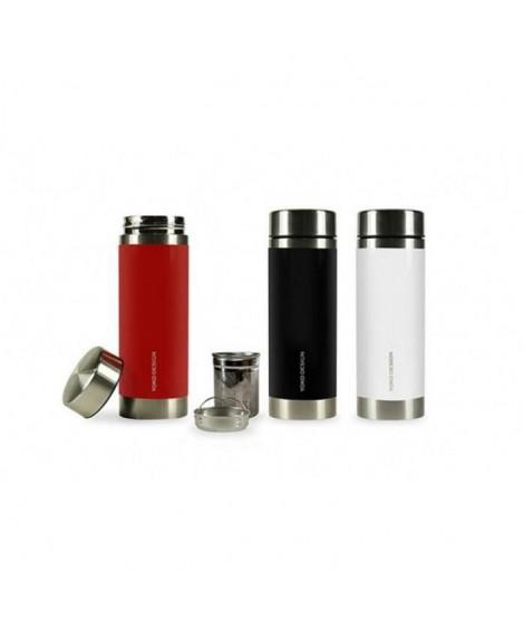 YOKO -  théiére isotherme 350 ml blanche a double paroi en inox