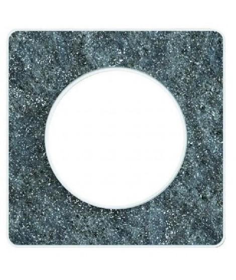 SCHNEIDER ELECTRIC Plaque de finition 1 poste Odace Touch blanc translucide liseré blanc