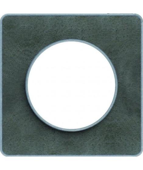 SCHNEIDER ELECTRIC Plaque 1 poste Odace Touch ardoise liseré aluminium