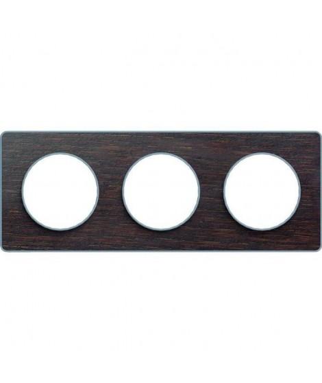 SCHNEIDER ELECTRIC Plaque 2 postes Odace Touch bois liseré aluminium