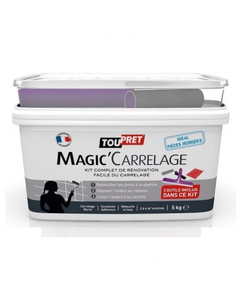 TOUPRET Enduit Magic'Carrelage 5 kg avec kit