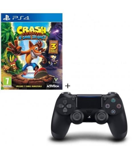 Crash Bandicoot N. Sane Trilogy + Manette DS4 Noire