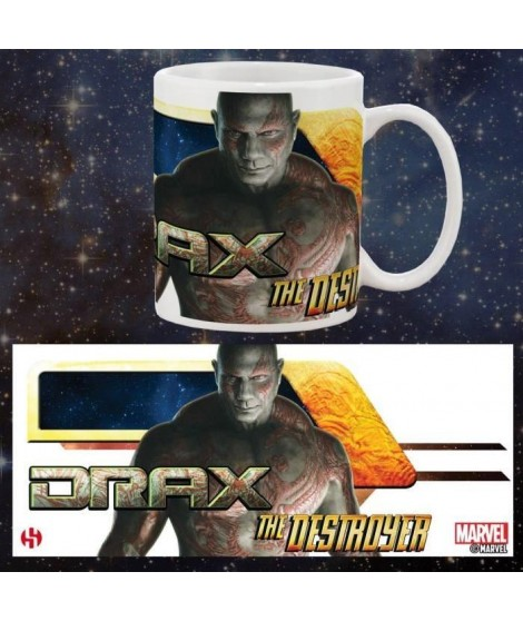Mug Marvel Drax The Destroyer Gardiens De La Galaxie Série 1 Blanc
