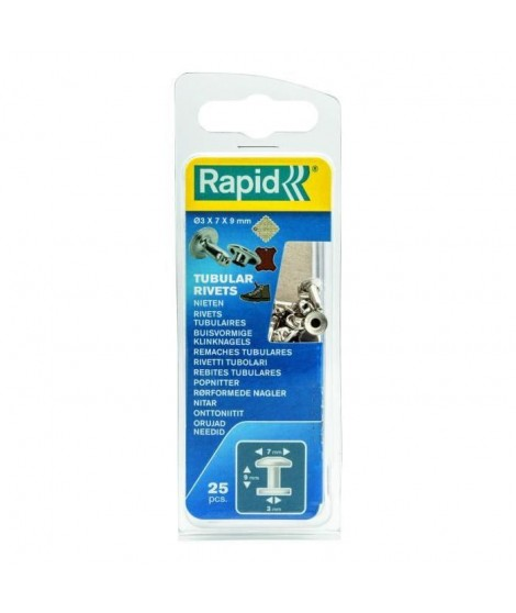 RAPID 25 rivets tubulaires 3x7mm
