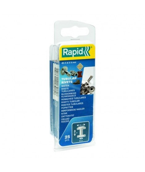 RAPID 25 rivets tubulaires 3x8mm
