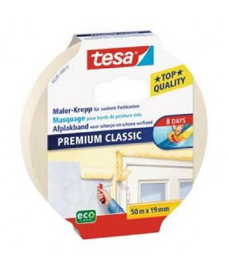 TESA Ruban de masquage Protection Classic - 50m x 19mm - Sans trace 8 jours