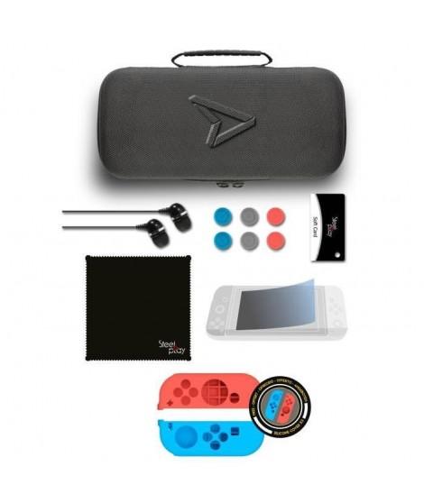 STEELPLAY Kit de rangemant Carry & Protect - 11 en 1 - Dont 2 Housses en silicone - Nintendo switch