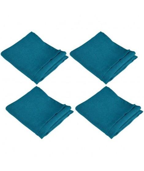 VENT DU SUD Lot de 4 serviettes de table SYMPHONIE 100% lin 50x50 cm jade