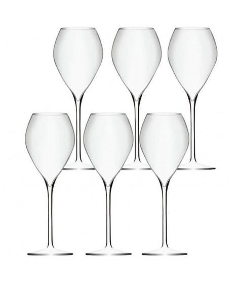 Lot de 6 Verres a Vin Effervescent Premium - 23cl - Cristallin