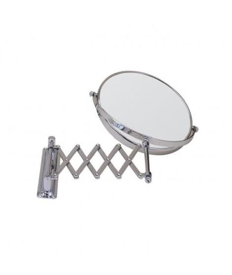 GERSON Miroir mural grossissant avec bras extensible - Chromé - Ø 18 cm