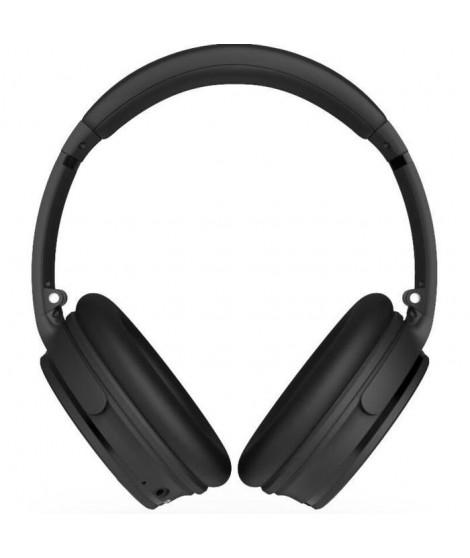 R-MUSIC KOL Casque Bluetooth a réduction de bruit active - 10h d'autonomie - Noir