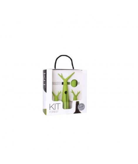 Kit Foret vert - 1 tire-bouchon, 1 housse rafraichissante et 2 bouchons.