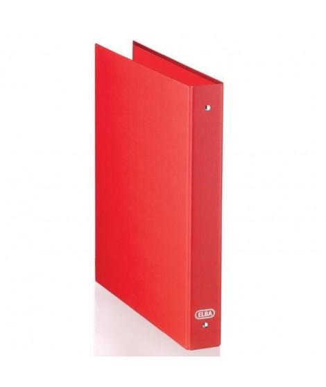 ELBA Classeur 4 anneaux ronds - Format A4 - Rouge - 32 cm x 26 cm x 4,5 cm