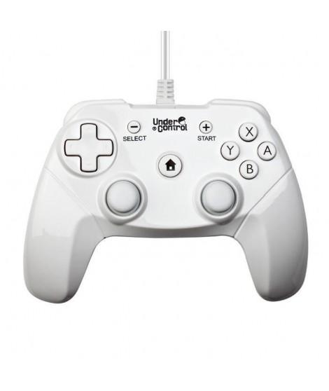 UNDER CONTROL Manette expert filaire Wii / Wii U - Noire - 2M
