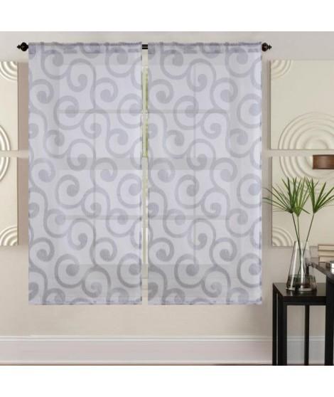 WAVE Paire de vitrage - 2x60x120 cm - Gris