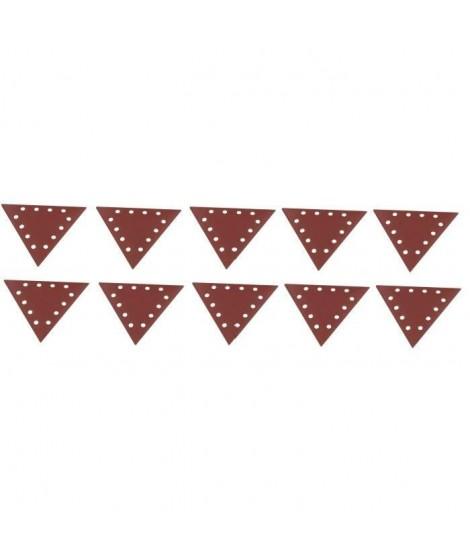 SCHEPPACH Lot de 10 triangles de ponçage grain 120 pour ponceuse DS210