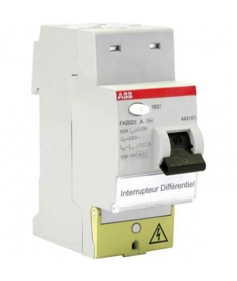 ABB Interrupteur différentiel FH202S 63 A de type A
