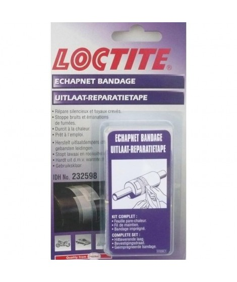 LOCTITE Bandage de réparation Echapnet - Pret a l'emploi - Clair