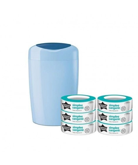 TOMMEE TIPPEE Starter Pack Sangenic SIMPLEE - 1 bac BLEU + 6 recharges