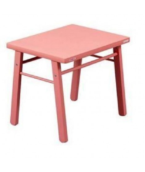 COMBELLE Table enfant  laque rose