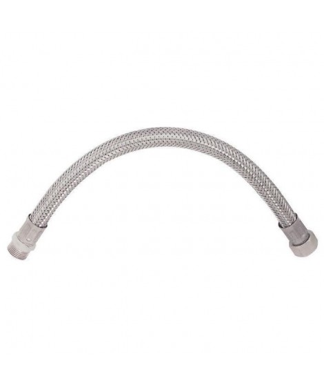 """SOMATHERM Flexible Sanitaire en Inox ACS DN8 - Débit Standard - L 50cm - Mâle droit 1/2"""" - Femelle droit - Ecrou Tournant 3/8"""""""