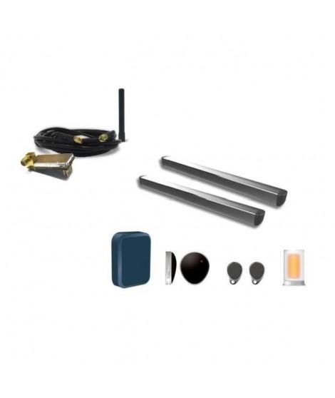 EXTEL Kit de motorisation a vérins Riesco pour portail de 2 vantaux pleins ou ajourés 24V avec kit intelligent Filia