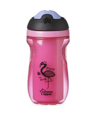 TOMMEE TIPPEE Tasse isotherme avec bec - Des 12 mois - Flamant rose