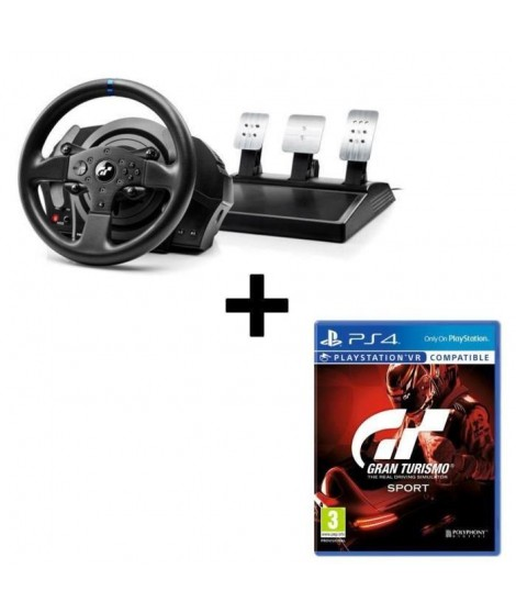 Pack THRUSTMASTER Volant T300RS Gran Turismo Edition + Jeu Gran Turismo Sport PS4/VR