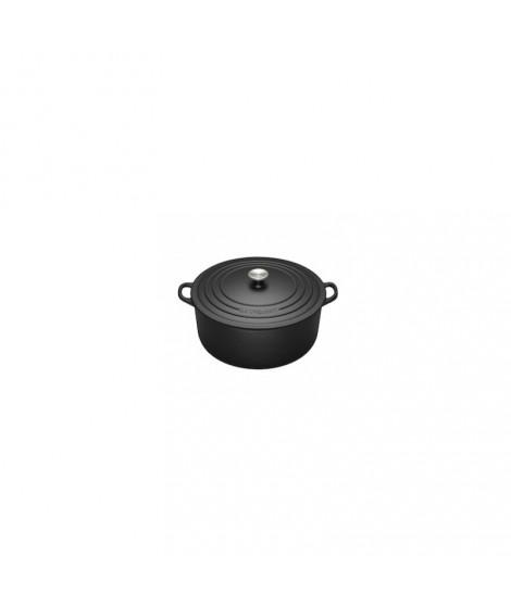 Cocotte en fonte ronde 28 cm noire LE CREUSET
