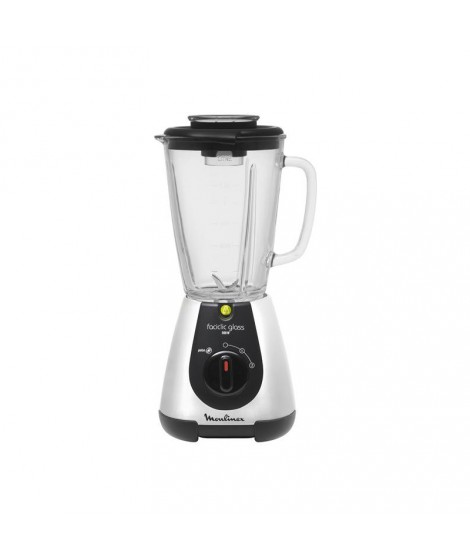 blender 1l25 silver  faciclic glass moulinex