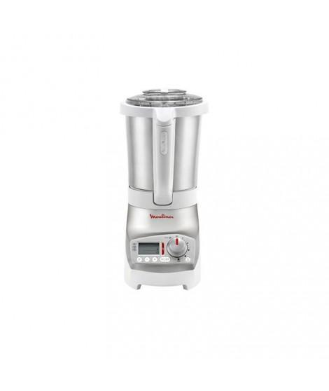 blender chauffant 1.8 l inox et blanc  soup & co moulinex