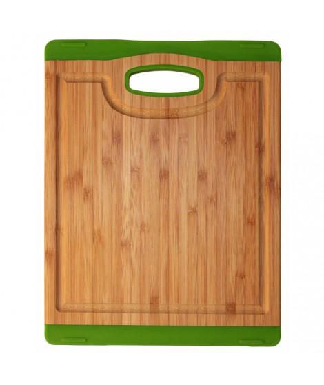 Planche bamboo/silicone verte- 20 x 26.5 cm- Totally Bamboo