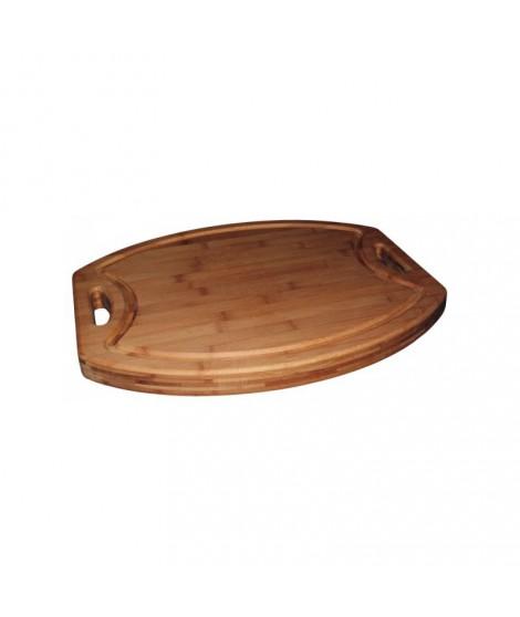 Billot de cuisine avec rigole- 54 x 44 x 2.5 cm- Totally Bamboo