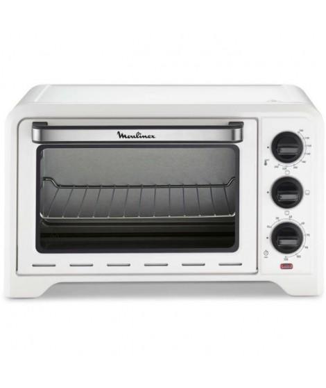 MOULINEX OX441110 - Mini four grill - 19 L - 1380 W - Grill 740 W - Chaleur conventionnelle - Blanc