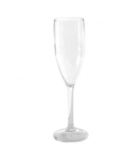 Verres a champagne polycarbonate x 3