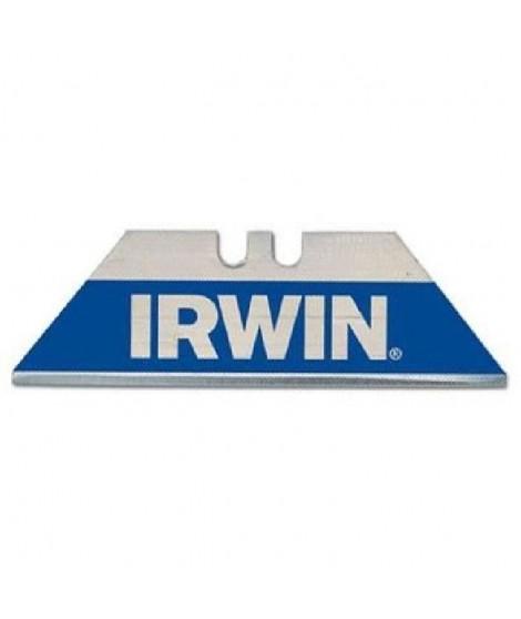 IRWIN Etui de 10 lames trapezes bleue bi-métal pour couteau