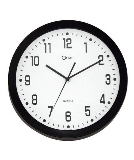 Horloge murale déco silencieuse Ø30cm noir