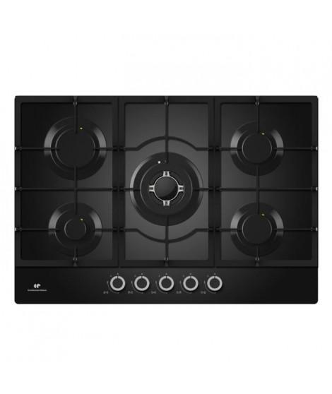 CONTINENTAL EDISON CECTG5GFVB - Table de cuisson gaz-5 foyers-L60cm-Noir