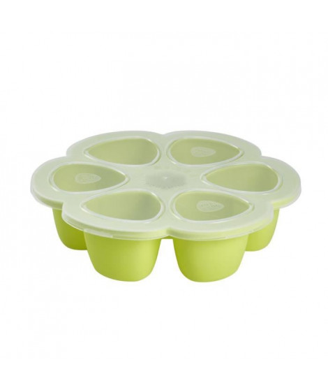 Béaba Multiportions silicone 6 x 90 ml neon