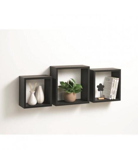 CODICO Set de 3 cubes gigognes Homeo 23-26-30 cm noir