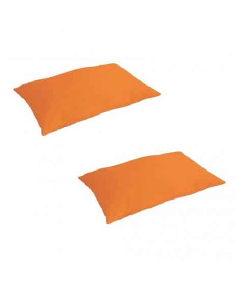 TODAY Lot de 2 taies d'oreiller 50x70cm Mandarine