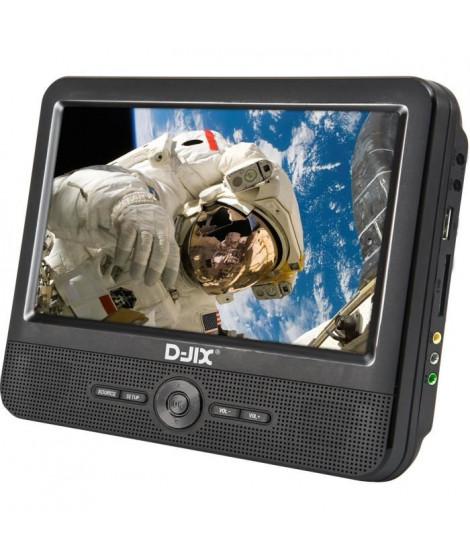 """D-JIX PVS 706-70DP Lecteur DVD portable 7"""" Double écran + Supports appui-tete"""