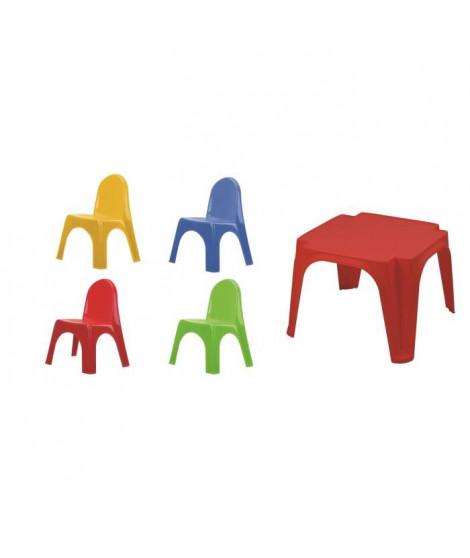 VARDA Lot 1 Table Enfant + 4 Chaises