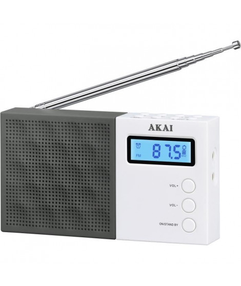 AKAI AR-76W Radio pocket Digital - Noir et Blanc