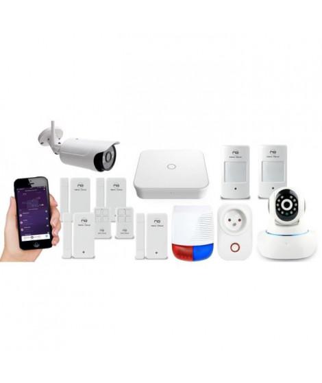 NEW DEAL Pack Alarme maison LAN / WIFI / GSM Live Pro-L15 Domovision sans fil connectée