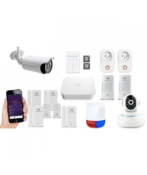 NEW DEAL Pack Alarme maison LAN / WIFI / GSM Live Pro-L15+ Ultimate sans fil connectée