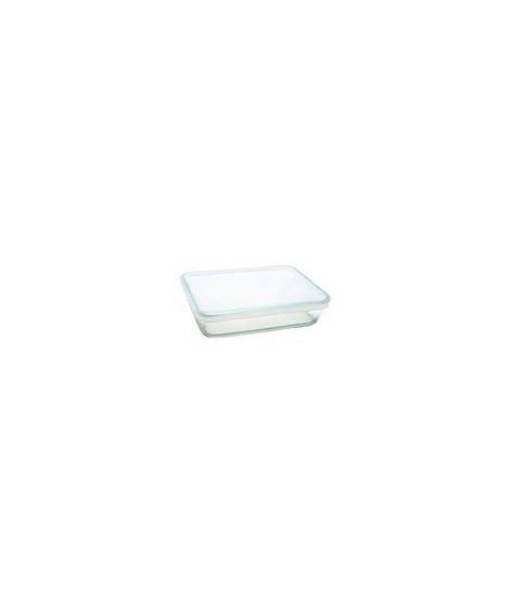 PYREX Plat rectangulaire en verre 4 L + Couvercle en plastique COOK&FREEZE