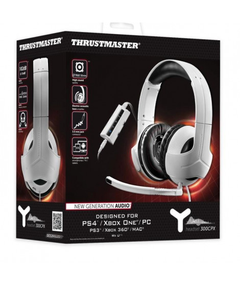 Thrustmaster Micro-Casque Gamer Y-300CPX Universel PS4/PS3/PC/Xbox 360/Xbox One